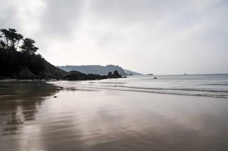 Sandy beach in Jersey, Channel Islands Stock Photo