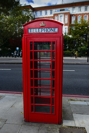 phonebox: Red telephone box in London