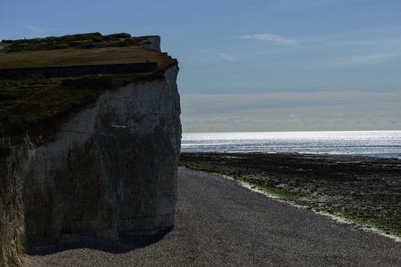 seven sisters: Seven sisters cliffs over stoney beach
