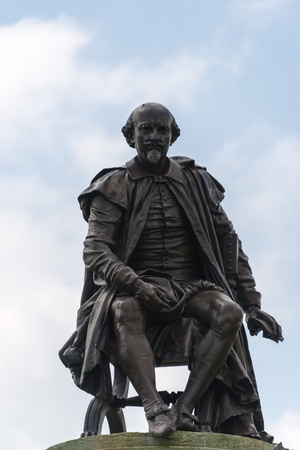 Shakespeare Statue in Stratford-upon-Avon Editorial