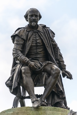 Shakespeare Statue in Stratford-upon-Avon Editorial