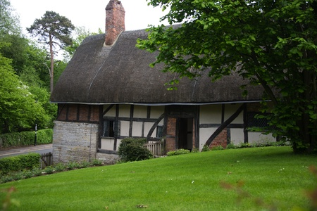 Anne hathaways cottage, the home of william shakespeares wife, shottery stratford-upon-avon great britain england uk united kingdom europe