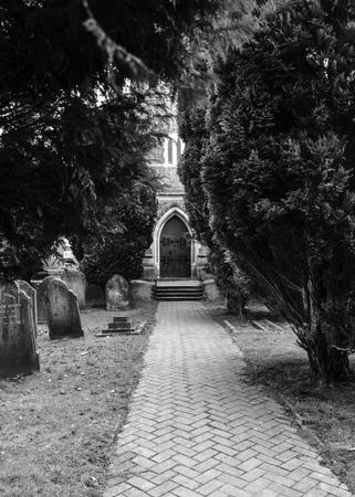 English church and graveyard