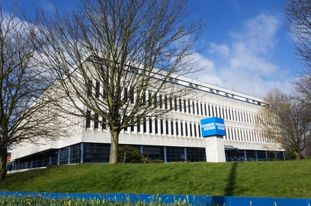 west sussex: American Express - Sussex House building in Burgess Hill, West Sussex, England Editorial