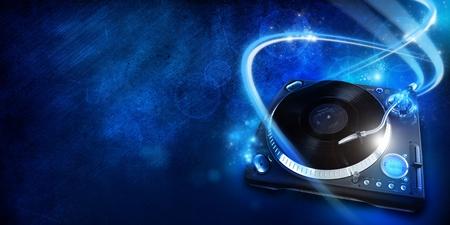 discjockey: Vinyl player