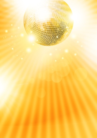 discoball: Gold disco-ball Stock Photo