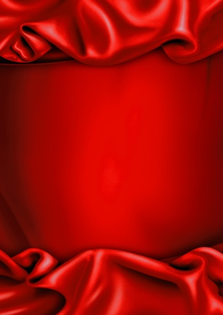 Red satin fabric background photo
