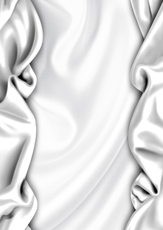 velvet: White satin fabric background