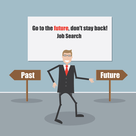 Business and Finance Concept.Past and future