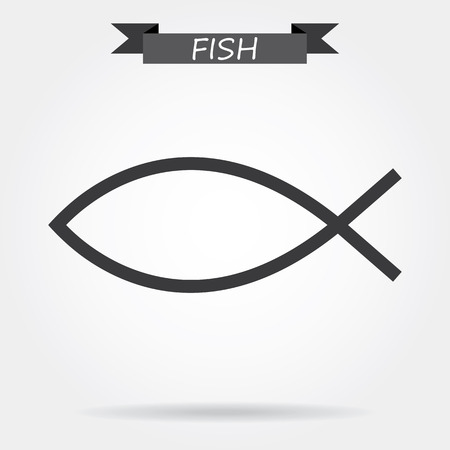 ictus: Christian symbol - fish icon