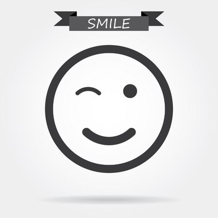 sonriente: Sonrisa icono Vectores
