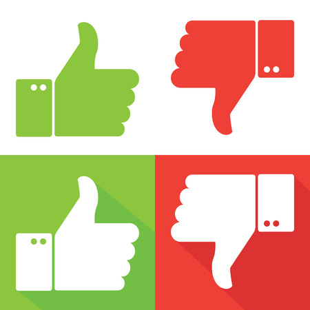 like icon: Thumbs Up and Thumbs Down