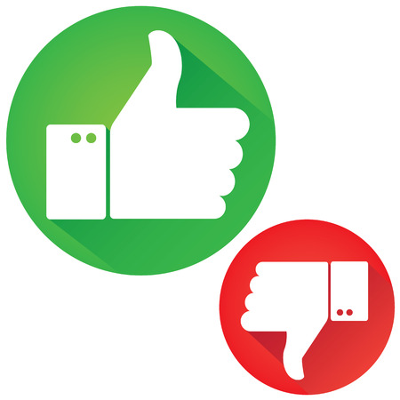 approve icon: Thumbs Up and Thumbs Down
