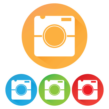 Hipster photo or camera icon Vector