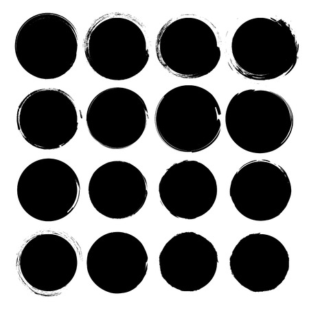 Grunge circles vector. Illustration
