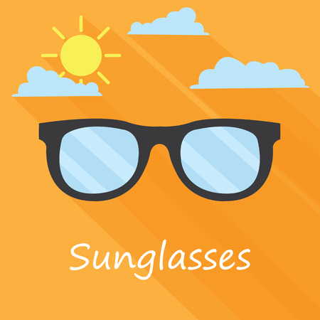 Sunglasses icon. Summer background  - Vector Vector