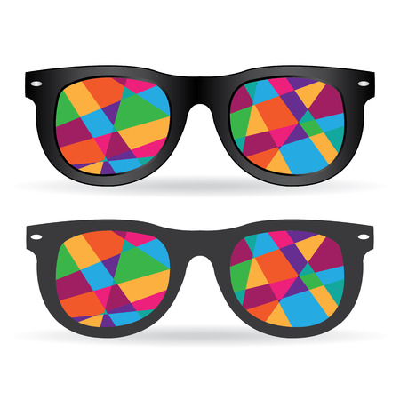 wayfarer: Sunglasses vector illustration