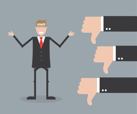 Unsuccessful businessman Stock Illustratie