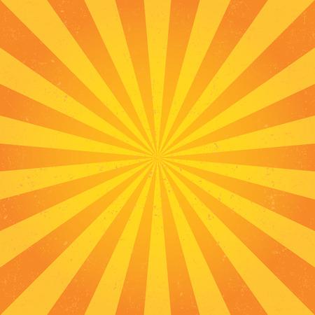 Los rayos del sol. Vector
