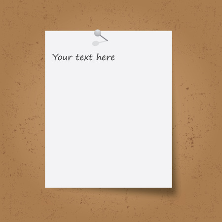 paper note: Note Paper with pin