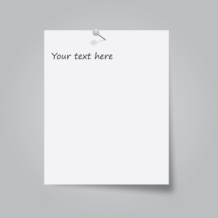 note pad: Note Paper with pin