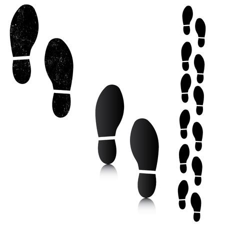 hiking trail: Man footsteps