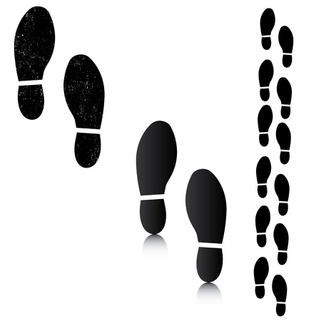 Man footsteps