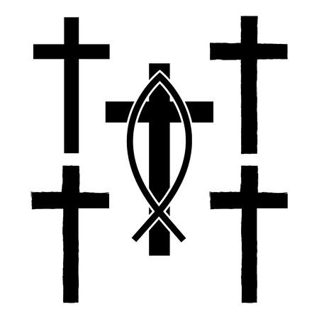 grunge cross: Grunge cross