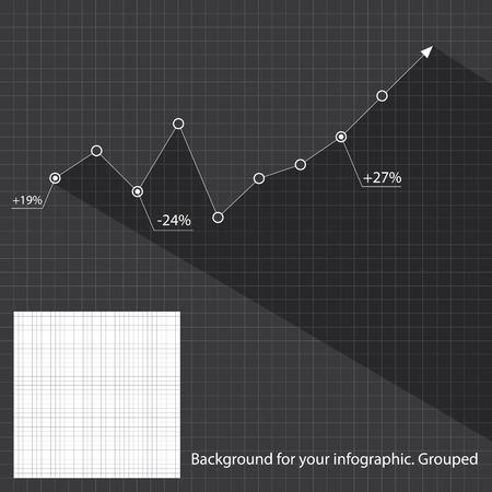 statistic: Business graph statistic Illustration