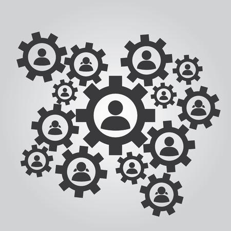 multilevel: Levels of management. Increase Illustration