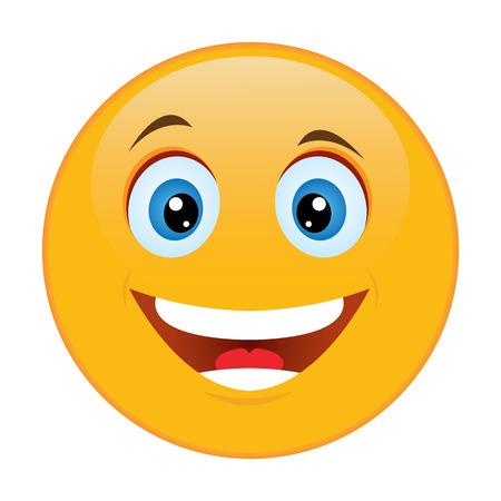 Smiley emotion of joy