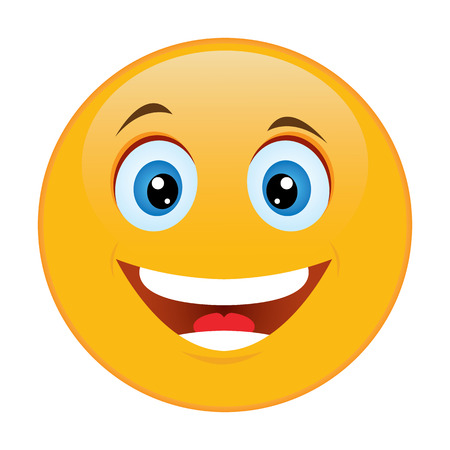 happy emoticon: Smiley emotion of joy