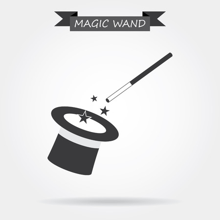 magic trick: Magician icon Illustration