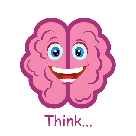 thinker: Funny brain Illustration