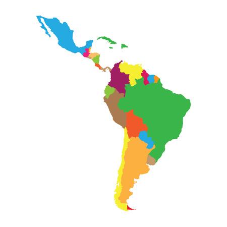 Latin America  イラスト・ベクター素材
