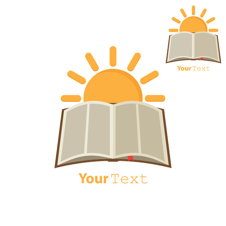 over: Sun over open book. Concept education