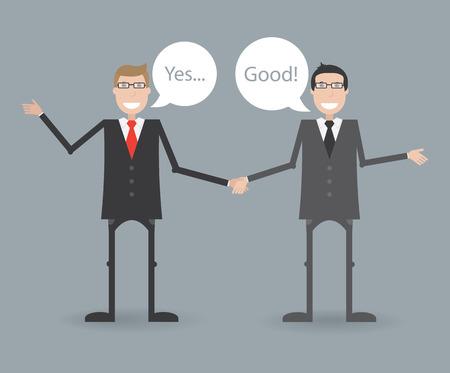 coincidir: Dos hombres de negocios est�n de acuerdo Vectores
