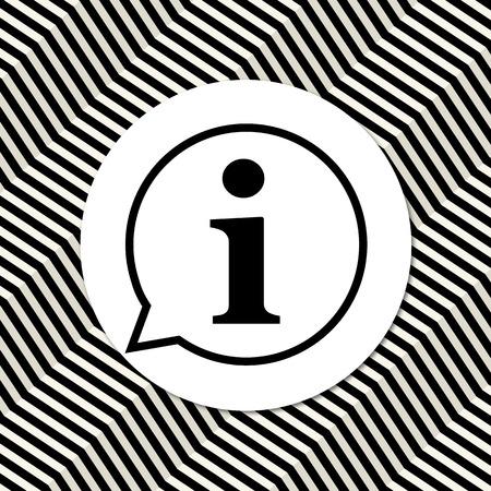 information icon: Information icon. Modern background