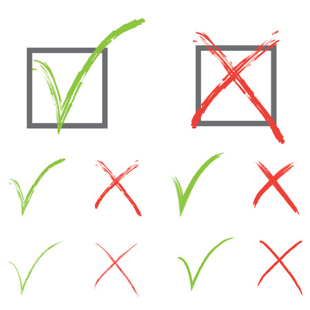 sign ok: Vector check marks Illustration