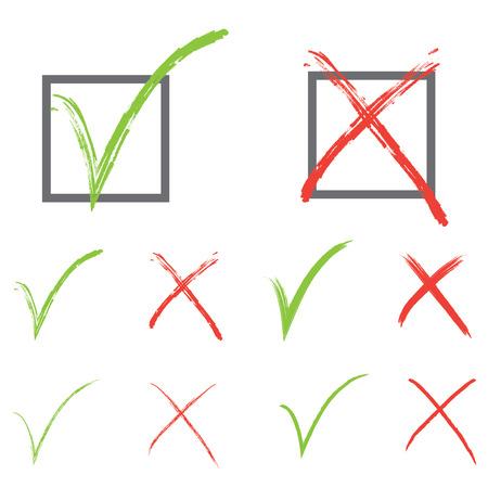 check marks: Vector check marks Illustration