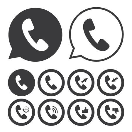 handset: Handset icon Illustration