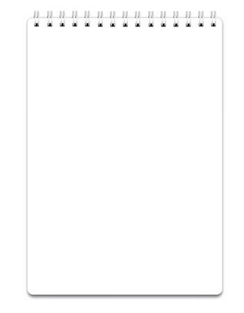 Lege realistische spiraal notitieblok notebook geïsoleerd op wit vector