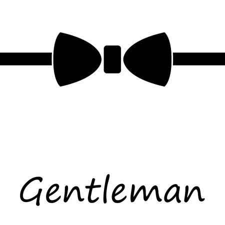 галстук: Черный галстук Иллюстрация