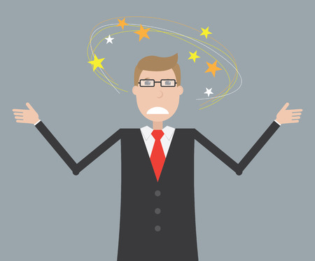 dizziness: Dizziness in business man