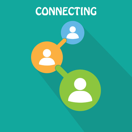 connect people: People connecting icon