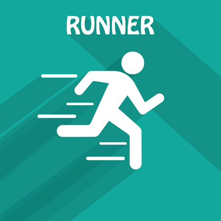 hurrying: Running man. Vector. Flat style