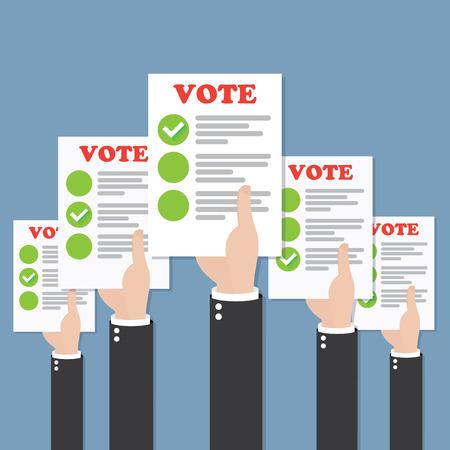 electing: Vote
