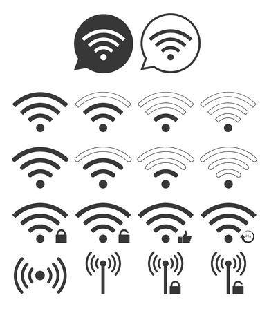 Set Of Wi-Fi Icon Banco de Imagens - 37866059