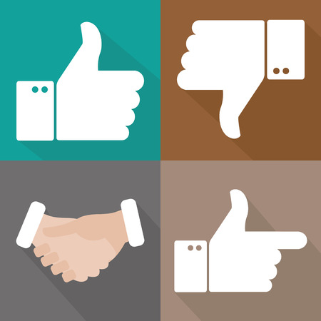 THUMBS DOWN: Thumbs Up Illustration