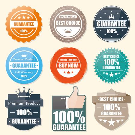 sello: Garantía Insignia, mejor sello elección, etiqueta engomada, etiqueta, etiqueta